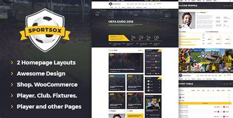 Sportsox Sport Team Clubs Psd Template By Webredox Themeforest Sports Team Website Template