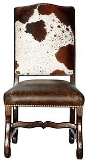 classic cowhide dining chair set   southwestern