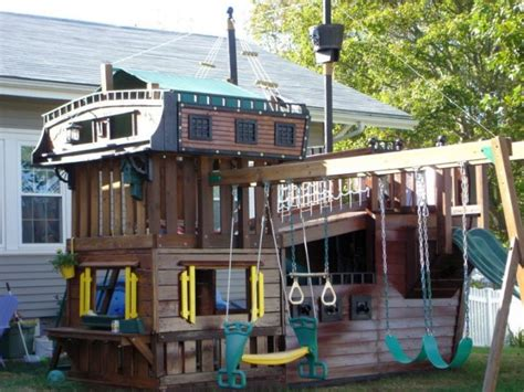 outdoor playhouse with slide and swing pirate ship with swings and slide luxury outdoor playhouse