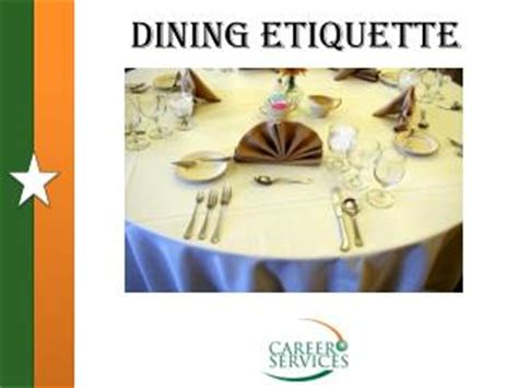 Dining Table Etiquette Ppt Ppt Dining Etiquette Powerpoint Presentation Id 1066777
