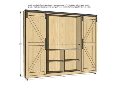 sliding barn door bookcase open the barn doors for an entertainment center and close