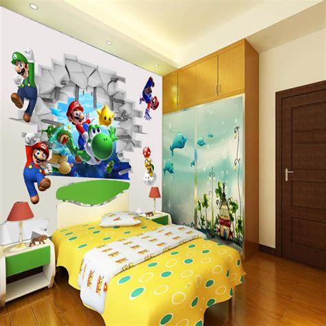 childrens bedroom decoration stickers super mario brother 3d wall sticker children art bedroom