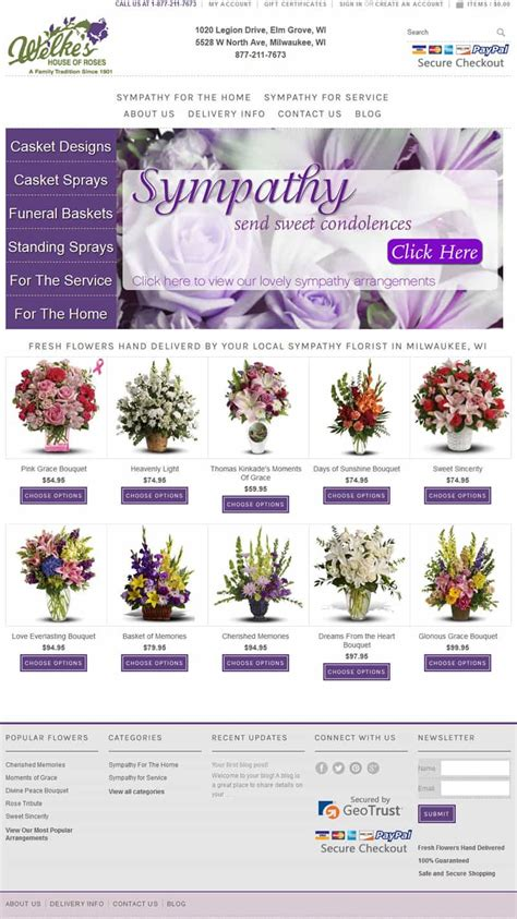 welkes house of roses welke s house of roses milwaukee funeral flowers florist website and gift website