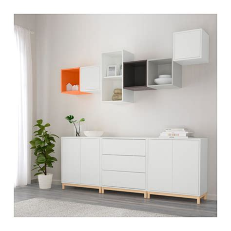 ikea eket eket cabinet combination with legs multicolour 210x35x210