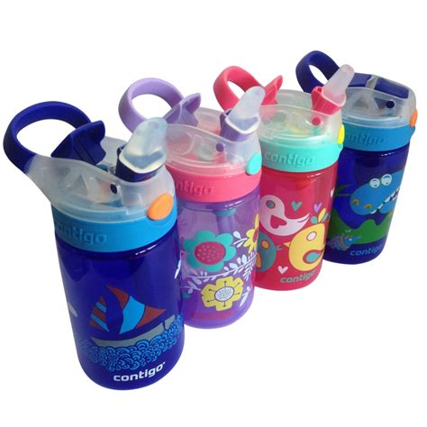 Water Bottle With Straw Animal Mixer personalised contigo gizmo flip autospout 420ml water drink bottle mix