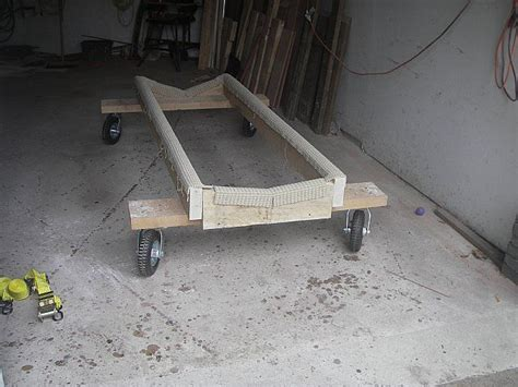 wooden boat stands plans boat stand dolly cradle moving boats boat boat