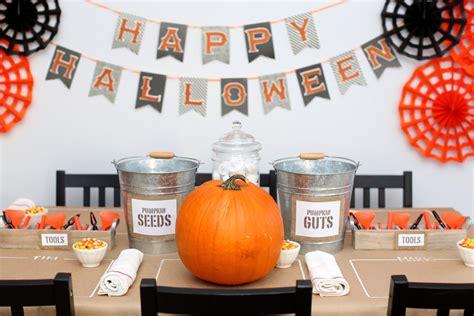 diy pumpkin carving table evite