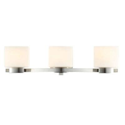 Hton Bay 4 Light Brushed Nickel Bath Light 05382 The Home Depot Hton Bay 3 Light Brushed Nickel Bath Light 25090 The Home Depot