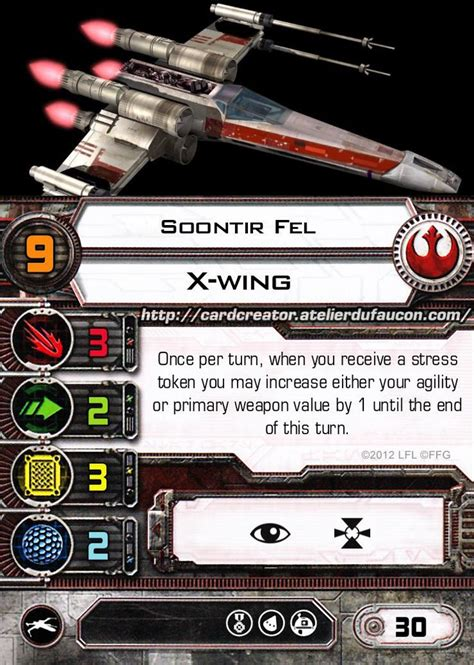 x wing upgrade card template 23 best x wing miniatures custom cards images on