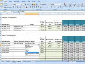 Property Expenses Spreadsheet Property Management Spreadsheet Excel Template For