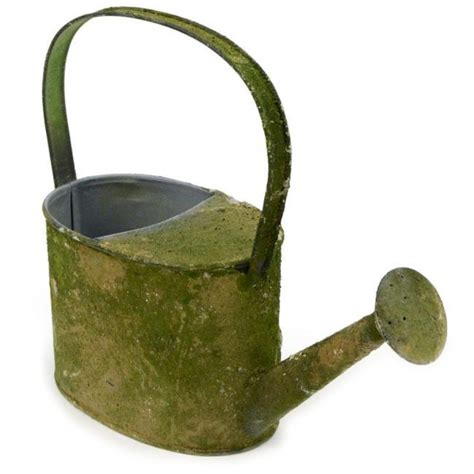 decorative watering cans 9 quot decorative mossy tin watering can kq868236