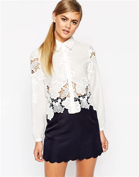 Dahlia Blouse dahlia dahlia blouse with cutwork detail at asos