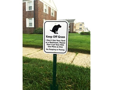 keep dogs lawn keep grass signs