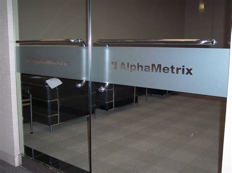 glass in a b label door frosted glass vinyl graphics privacy impact signs