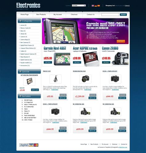 Os04a00409 Oscommerce Template For Electronic Stores Oscommerce Templates Free