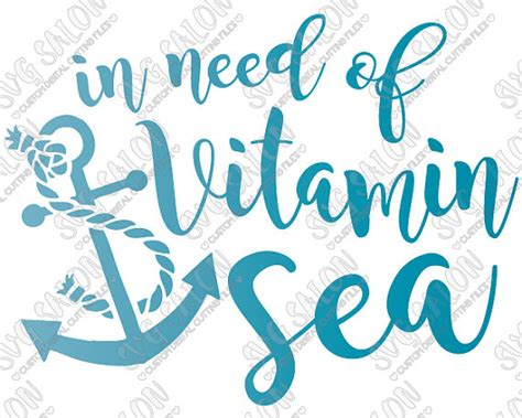 Vitamin Sea in need of vitamin sea vinyl sign decal with anchor by