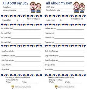 Preschool daily report