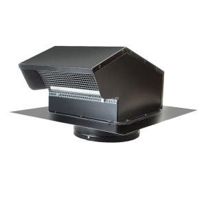 Kitchen Vent Roof Cap Master Flow 6 In Goose Neck Vent Roof Cap Gnv6bl The