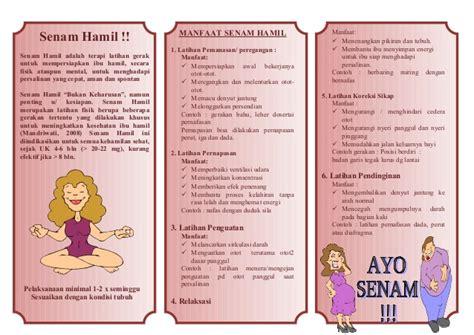 Primolut N Untuk Wanita Hamil Leaflet Senam Hamil