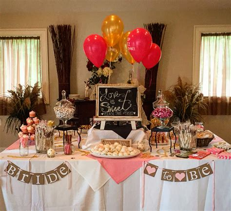 ideas for bridal shower table decorations pink and gold bridal shower dessert table brunch and