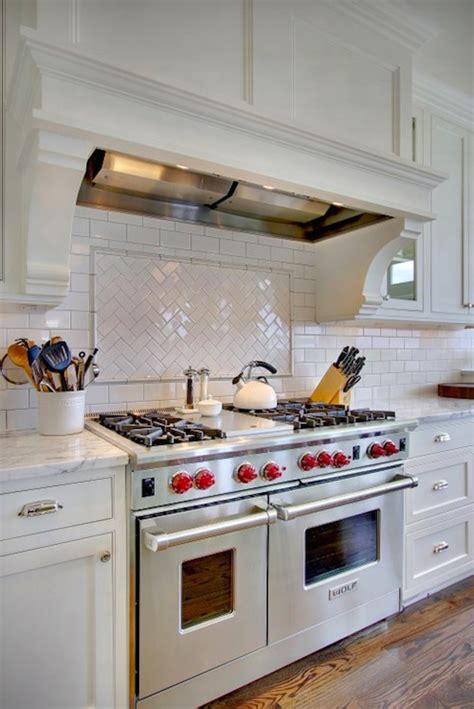 Marble Herringbone Backsplash Design Ideas Herringbone Kitchen Backsplash