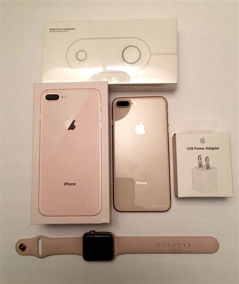iphone 8 plus gold 5 5 quot 256 gb gsm unlocked gold iwatch bands 42mm wireless ch ebay