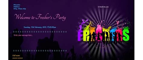 Freshers Invitation Card Templates by Free Freshers Invitation Card Invitations