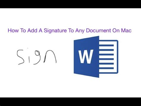 How To Sign A Word Document Mac
