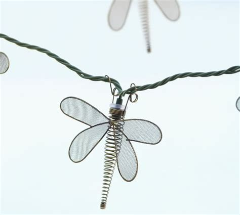 dragonfly string lights wire dragonfly string lights pottery barn