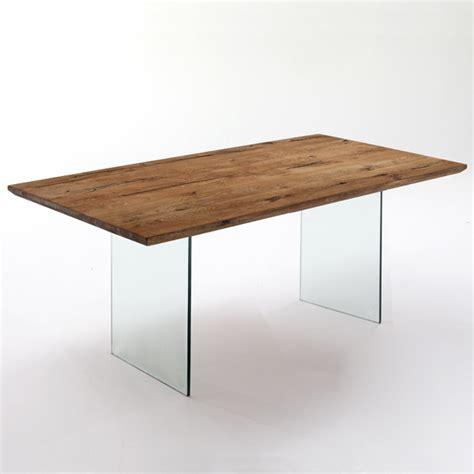 tavoli e scrivanie tavolo scrivania design moderno in legno massello e vetro
