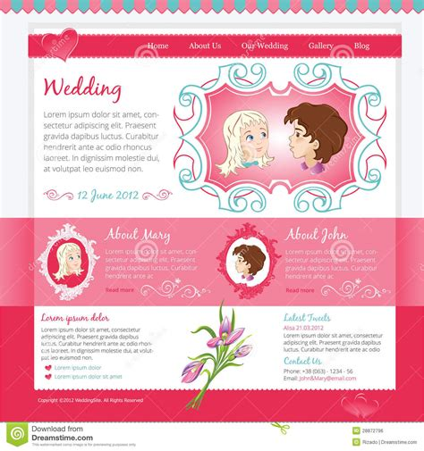 wedding site templates free wedding website template royalty free stock image image