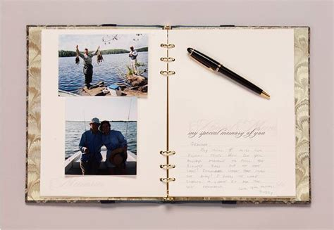 memorial picture book funeral register book tribute book combo guest sign