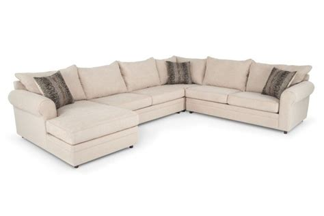 bobs furniture sectional sofas basement sofa 999 venus ii 4 piece right arm facing