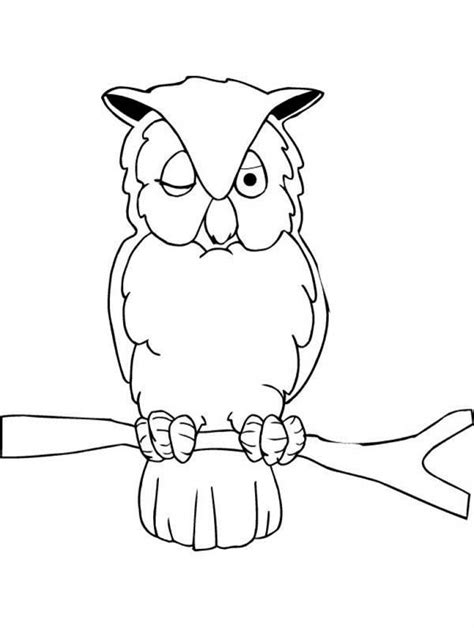 sleeping owl coloring page free coloring pages of sleepy owl