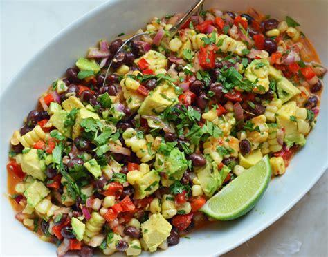 black bean corn salad with chipotle honey vinaigrette