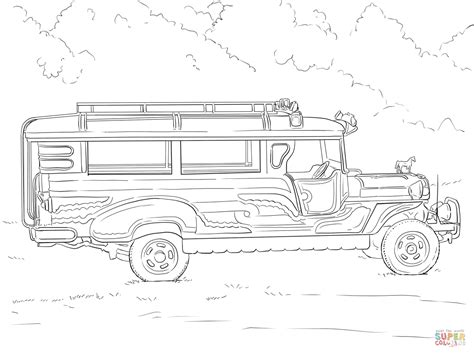 philippine jeep drawing philippine jeepney coloring page free printable coloring