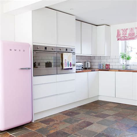 pink kitchen white and pink kitchen kitchen decorating ideal home