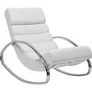 fauteuil a bascule moderne blanc manhattan kare design