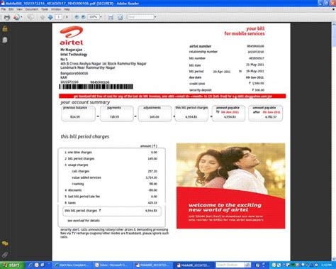 airtel postpaid mobile bill pay airtel mobile bill