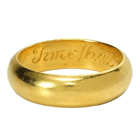 quot time shall tell i you well quot antique poesy ring