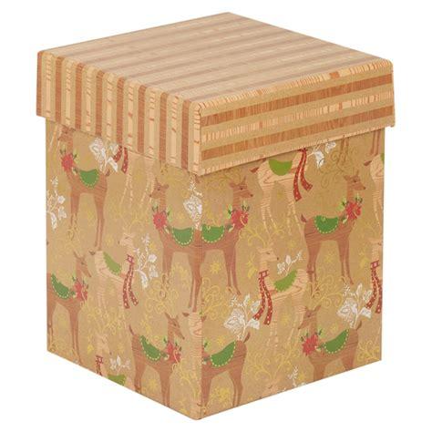 themed gift box christmas themed reindeer gift box set of 3 storage