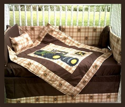Baby Boy Nursery Bedding John Deere Tractor With Plaid Deere Crib Bedding For Boys