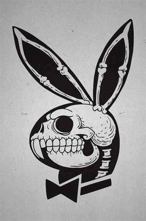 playboy bunny x ray skull pop art illustration skulls