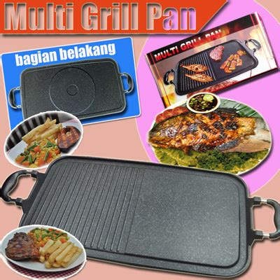 Pemanggang Daging Steak multi grill pan alat pemanggang ikan daging steak dan