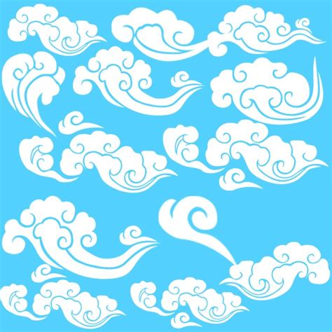 pattern psd cloud traditional chinese xiangyun psd material over millions