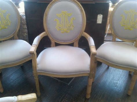 Monogrammed Chairs by Number Four Eleven Monogrammed Dining Room Chairs