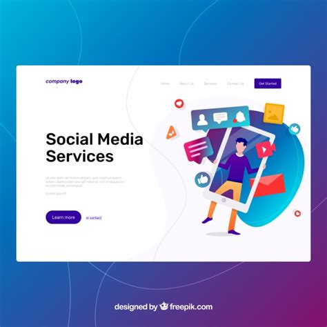 Social Media Marketing Vectors Photos And Psd Files Free Download Social Media Page Template