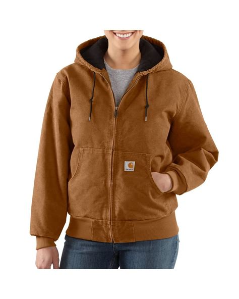 light blue womens carhartt jacket carhartt s sandstone detroit jacket sherpa lined