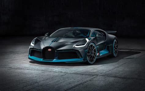 wallpaper  bugatti divo black supercar front view