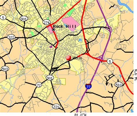 rock hill sc zip code map zip code map